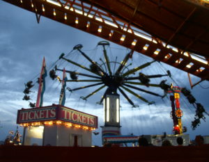 Midway Rides at Sweet Corn Festival