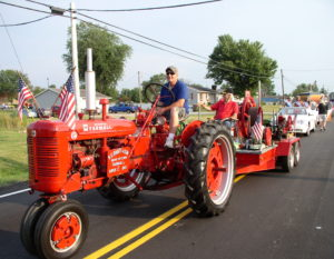 Antique Tractor in Sweet Corn Festival Parade